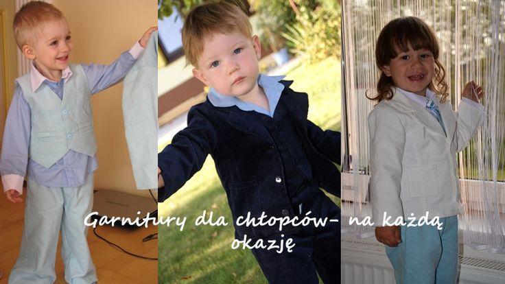 Garnitury dla chłopców, ubranka dla dzieci garnitury na chrzest, na roczek i inne okazje.