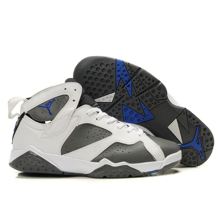 Cheap Original Nike Air Jordan 7 Phat Retro White And Varsity Purple-Flint  Grey Shoes Sale UK Store