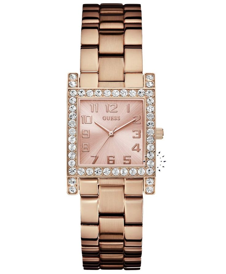 GUESS Crystal Rose Gold Stainless Steel Bracelet Η τιμή μας: 148€ http://www.oroloi.gr/product_info.php?products_id=33336