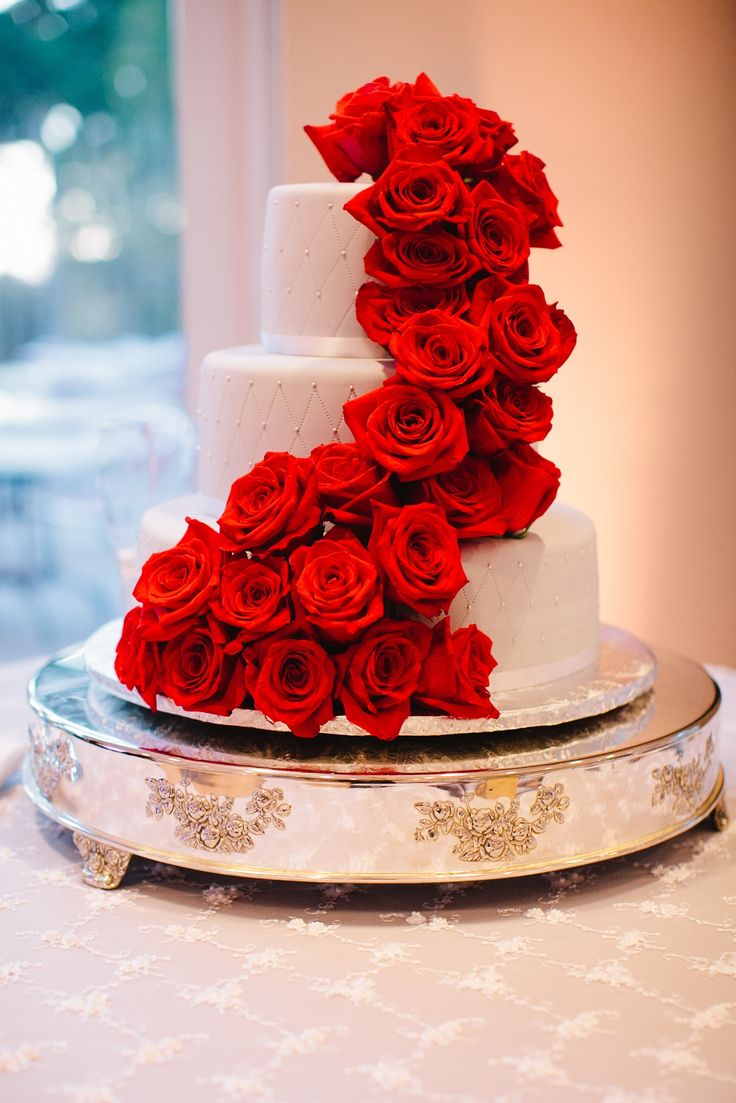 The evening concluded on a sweet note as guests indulged in a diamond and rose adorned cake by The Cakemaker.  Photo by Jerry Yoon Photography; Cake by The Cakemaker; Coordination by Stellify Events  Cakes,  Real Weddings,  Wedding Style,  red,  Round Wedding Cakes,  Wedding Cakes ... show more Other photos in Wendy and Jason: San Francisco, CA by KimRealWeddingsEditor