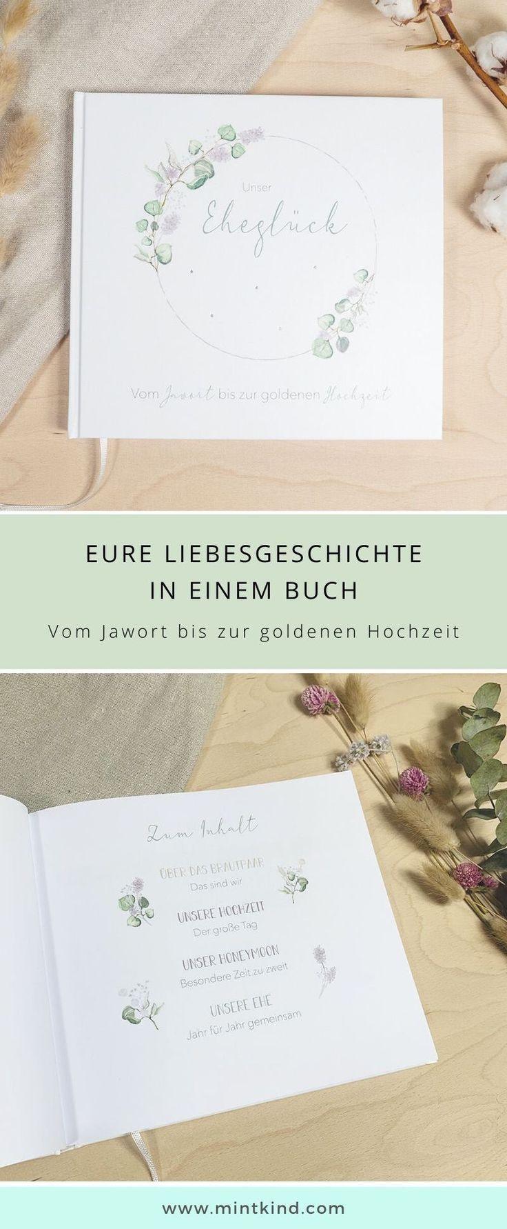 Mintkind Unser Ehegluck Erinnerungsbuch An Gemeinsame Ehejahre In 2020 Geschenk Hochzeit Ehejahr Hochzeitsbuch