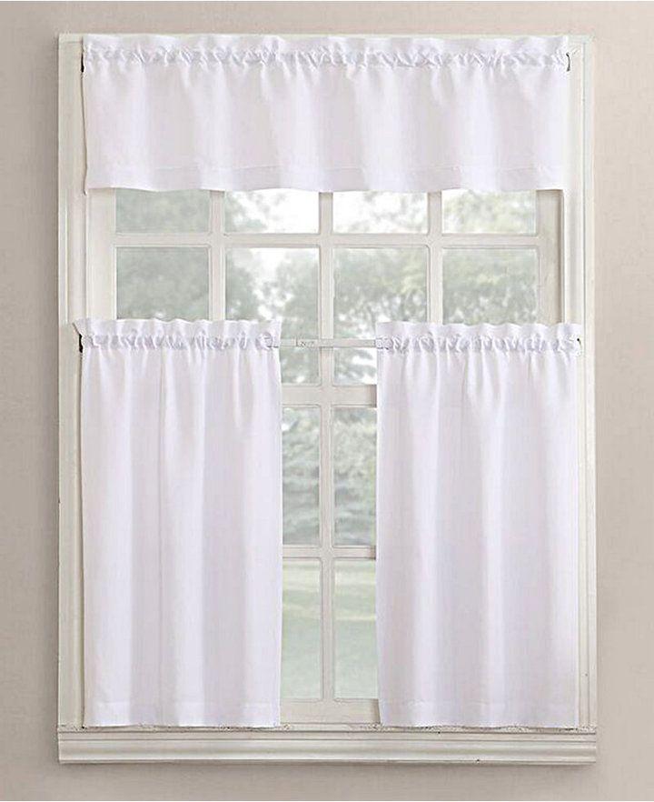 Lichtenberg No. 918 Martine 3-Pc. Microfiber Rod Pocket Kitchen Curtain Set Bedding