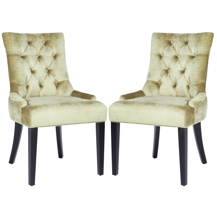 safavieh marseille nail head bronze velvet dining chairs