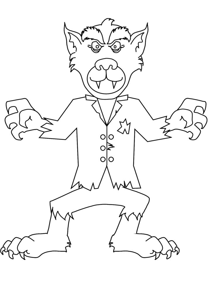 Free Werewolf Coloring Pages Download Free Clip Art Free