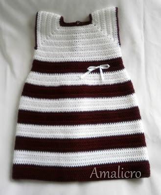 city girl - crochet baby dress
