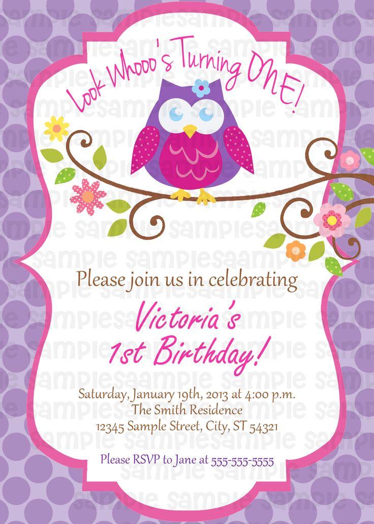 37 best Owl Birthday Party images on Pinterest   Owl birthday ...