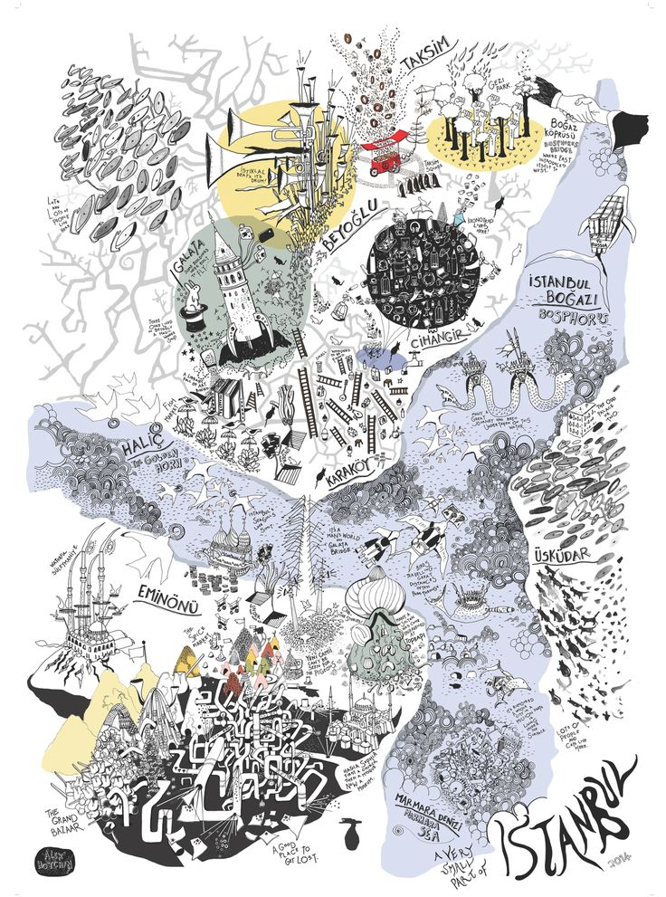 "Alex Hotchin, ""Istanbul"" (2014) #map #istanbul #turkey"