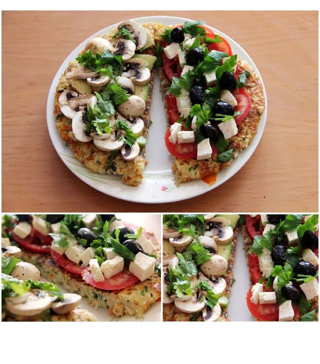 cauliflower and carrot carb free pizza | Veggies & Fruit | Pinterest