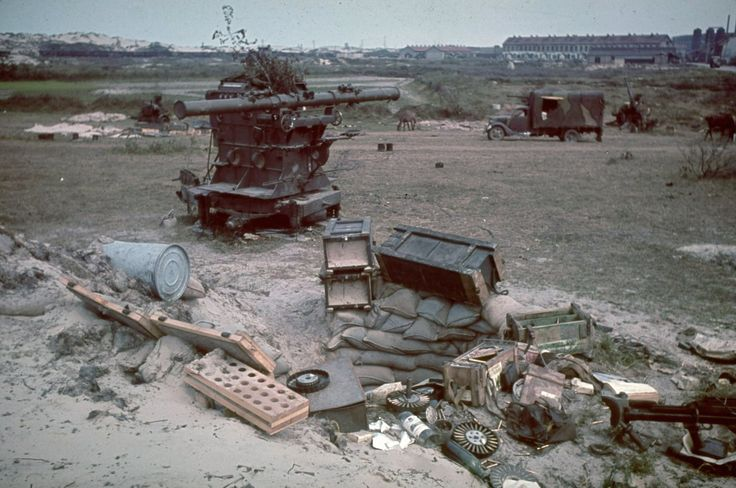 Battle of Dunkirk   Dunkirk after British bombardment and retreat. 1940.