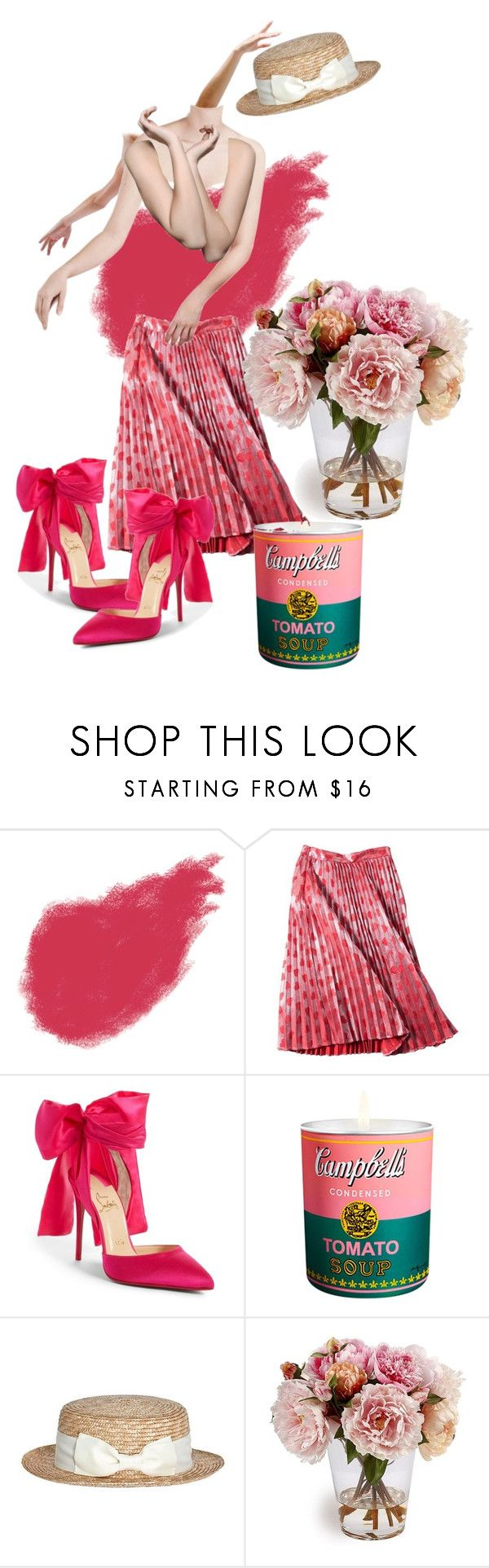 """Untitled #211"" by gina-stewart75 on Polyvore featuring Yves Saint Laurent, Christian Louboutin and Andy Warhol"