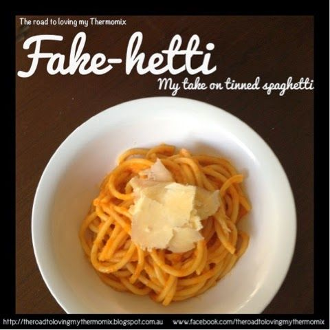Fake-hetti: Tinned spaghetti no more and this has sneaked in veggies that the kids won't even notice.