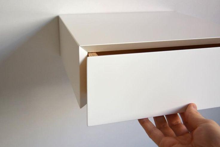 """17 kedvelés, 2 hozzászólás – MyBetterShelf (@mybettershelf) Instagram-hozzászólása: """"Minimalist white floating drawer. www.mybettershelf.com #floating #drawer #nightstand #bedside…"""""""