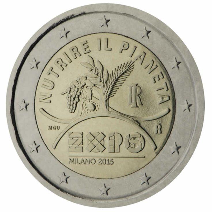 2 euro commémorative 2015 italie - Commémoration de l' EXPO Milano 2015 : tirage 3 500 000 ex