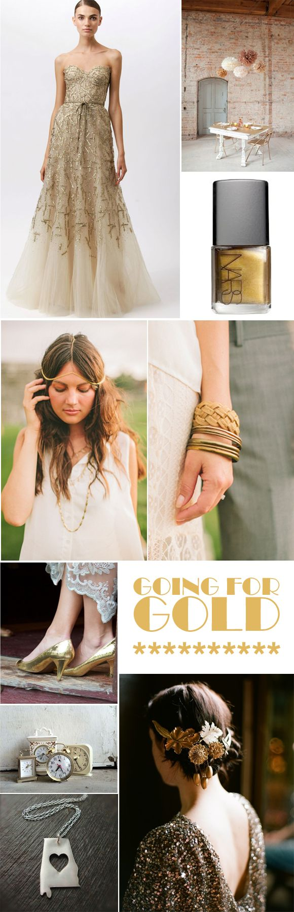 Gold Inspiration for Weddings! Www.agoodoldkneesup.com