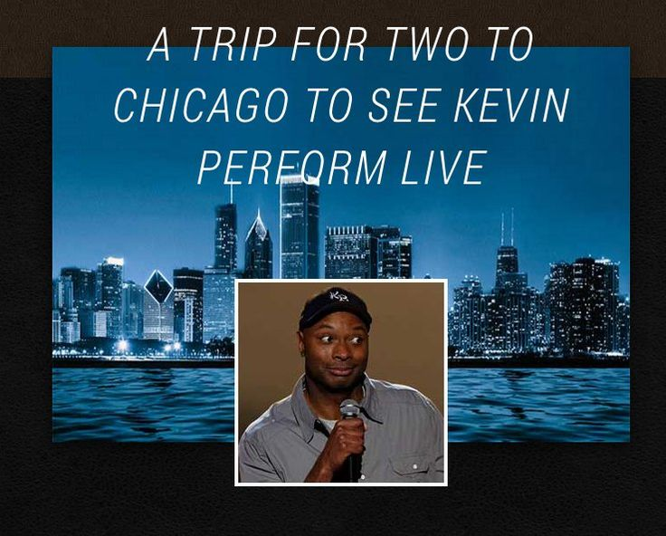 "You can win a $6,600.00 2-night trip for 4 adults 21+ to Chicago, IL to see a comedy show featuring Kevin Bozeman in February or March 2018; and $1,400 to use towards ground transportation, food or other incidental expenses.    Text ""EJTREATS to..."
