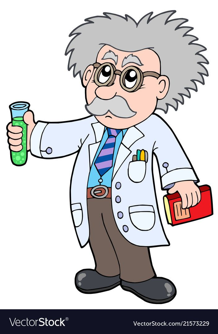cartoon scientist vector image on vectorstock scientist cartoon clip art cartoon cartoon scientist vector image on