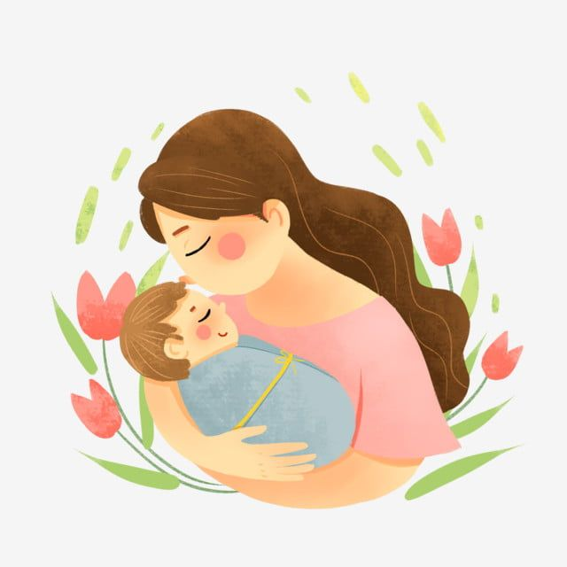 Mother Gently Kisses The Little Baby Baby Clipart Mom Child Png Transparent Clipart Image And Psd File For Free Download Mother And Child Drawing Baby Clip Art Baby Drawing