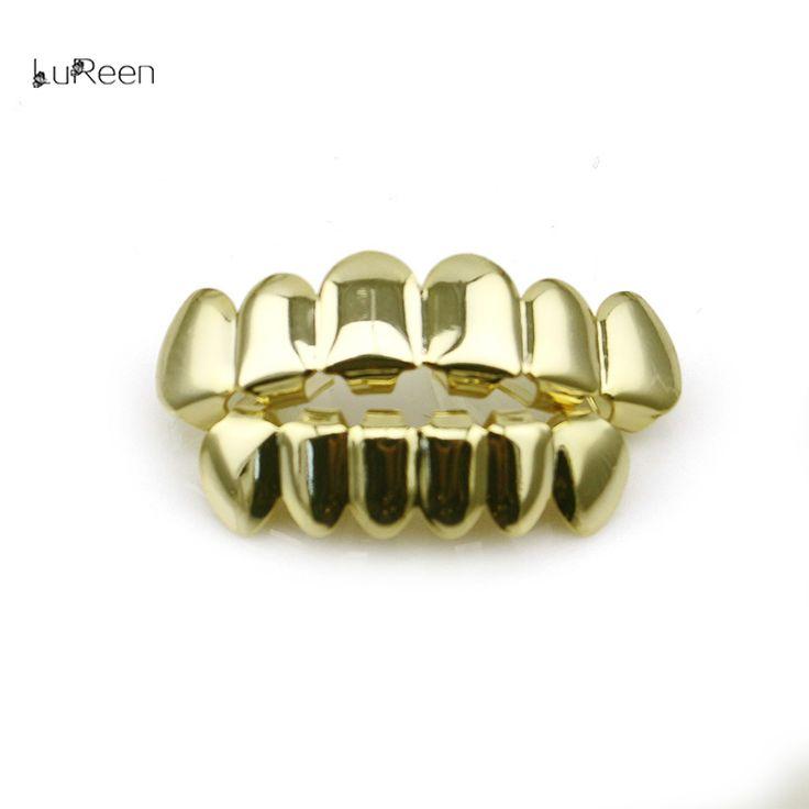 Body Jewelry. LuReen Hip Hop Gold Teeth Grills Top&Bottom Teeth Grillz Dental Vampire Teeth Caps Mouth Halloween Party Body Jewelry LD0010. #Body Jewelry