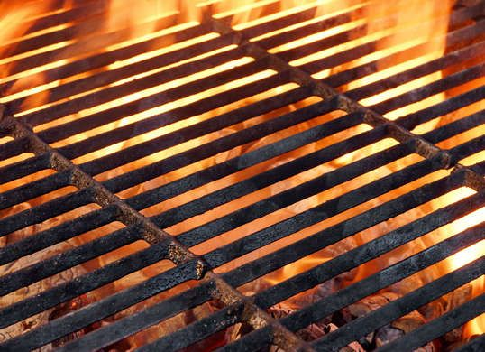 Clean Grill Grates with Old Newspaper