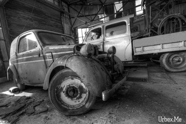 "Forgotten garage  #car ""exploration  More pics on www.urbex.me"