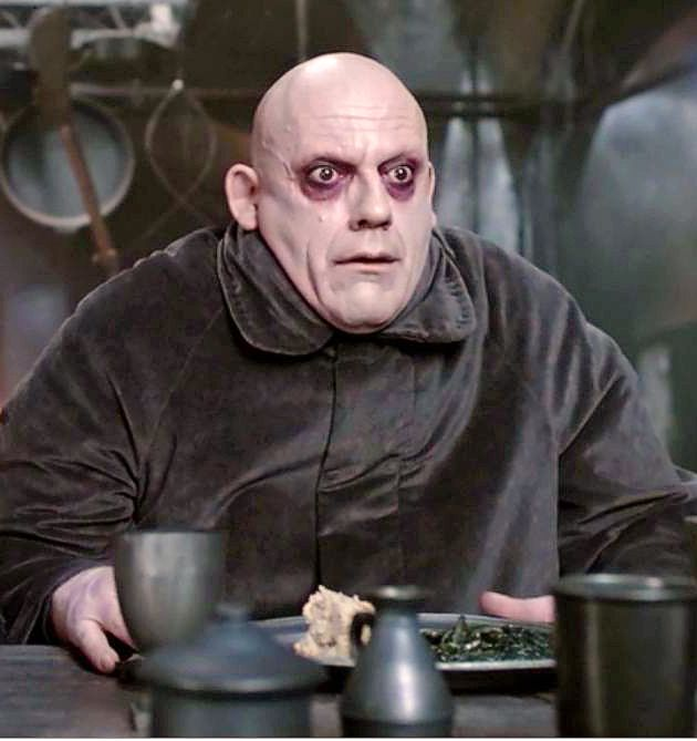 October 22: Christopher Lloyd! Pictured here as Uncle Fester in the movie, 'The Addams Family' (1991).