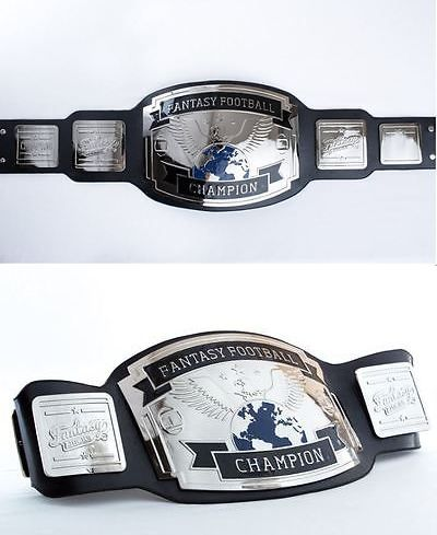 Other Football 2024: New Nfl Fantasy Football Championship Belt Trophy Black/Silver -> BUY IT NOW ONLY: $252.99 on eBay!