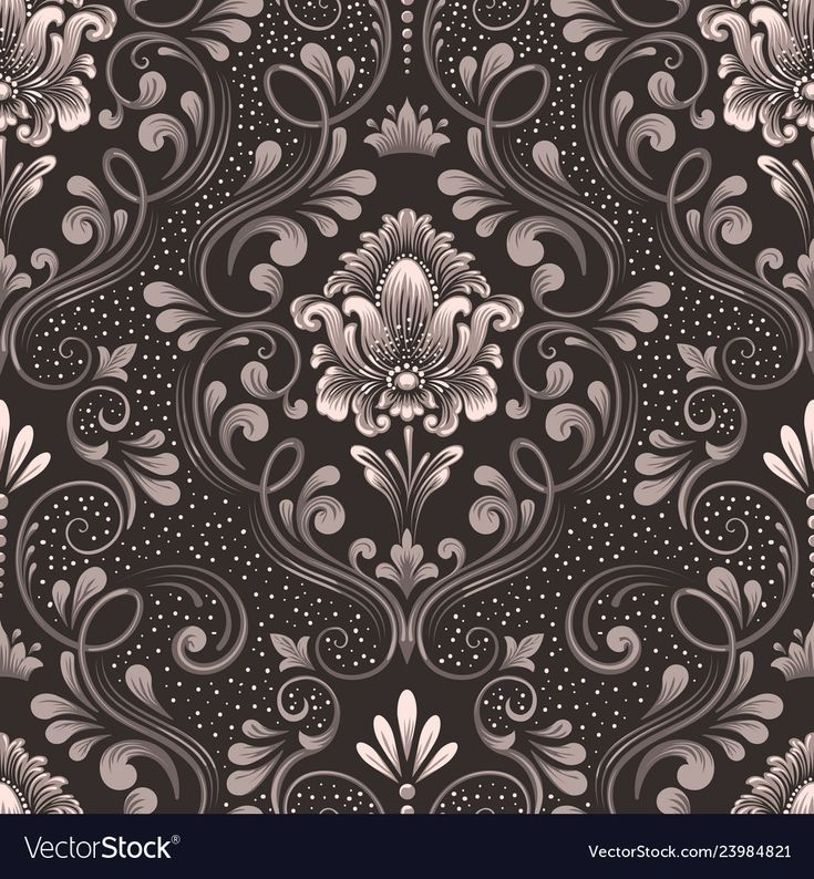 Damask seamless pattern element classical vector image on