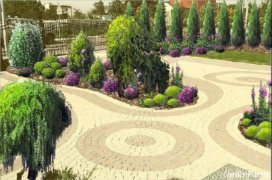 wjazd na posesję........ - GardenPuzzle - projektowanie ogrodów w przeglądarce