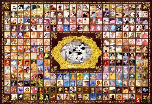 """Jigsaw Puzzles 1000 Pieces """"Disney Character Collection"""" / Disney / Tenyo"""