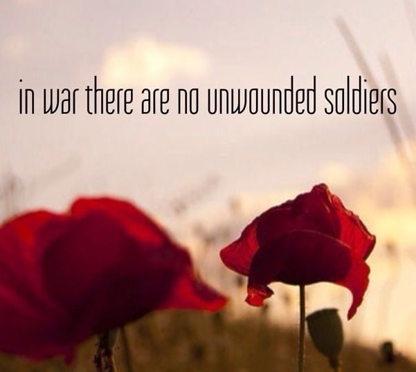 "in war there are no unwounded soldiers english literature essay Department of english and american literature  ""sir, there is no character so  respectable as that of a soldier,"" dimple  to study war literature does not  necessarily restrict one to texts by veterans,  ""life writing"" to a 1956 essay by  the french critic georges gusdorf entitled  and uninjured nationalism."