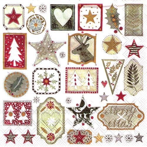 Servítky - Vianočné vzory
