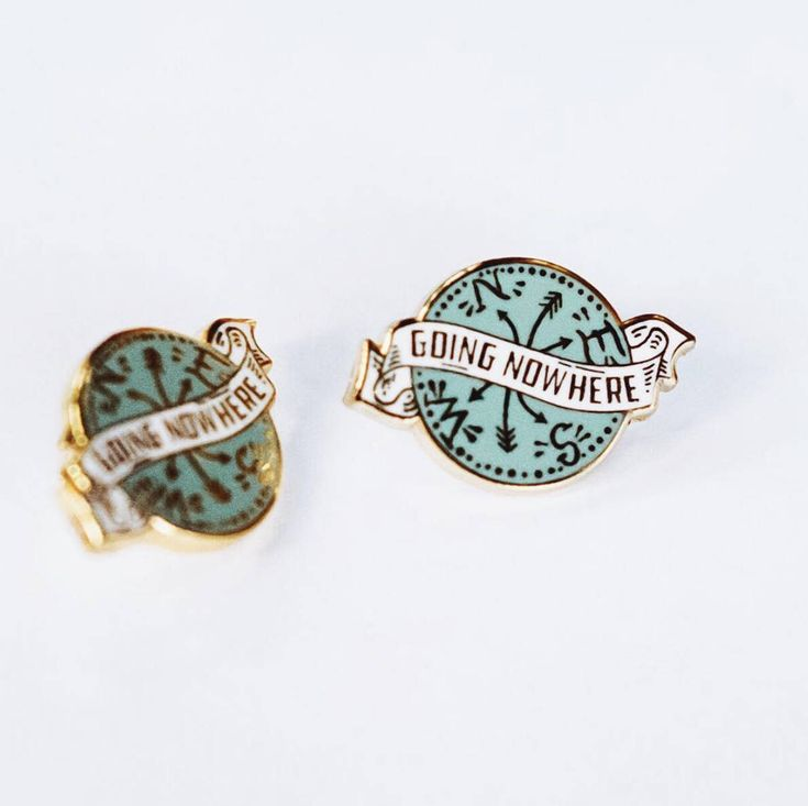 Going Nowhere Hard Enamel Lapel Pin by SoyahPress on Etsy