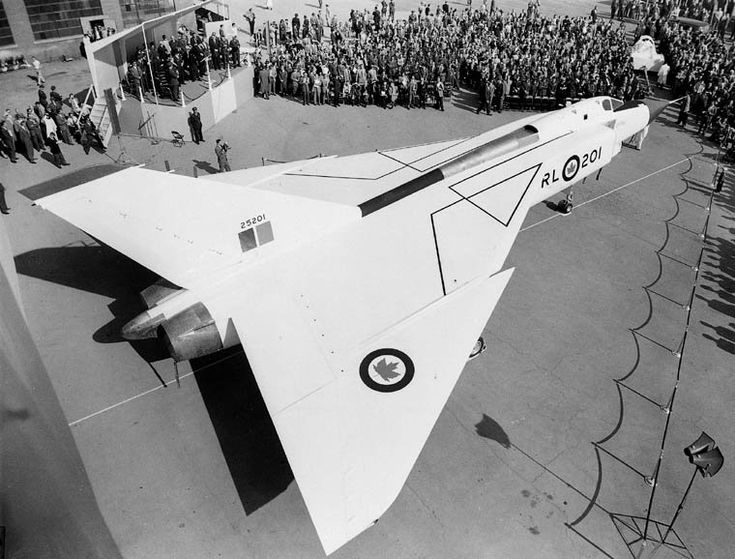 """""""#OTD in 1958, the #CF105 Avro Arrow flew for the first time. Learn more: https://t.co/wvIEt187eN #Canada150 @avspacemuseum"""""""