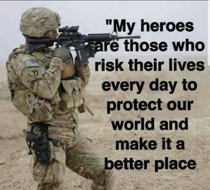 the Army, Navy, Marines, Air Force, and Cost Guard. Thank you all for risking your lives for us.