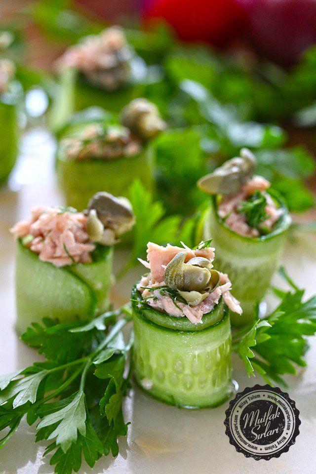 Ton Balıklı Salatalık Sarma