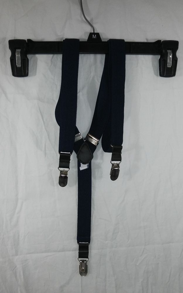 IZOD Suspenders Navy Blue 3 Metal Clips Elastic Men Braces #IZOD #izodsuspenders #suspenders #mensfashion #menstyle