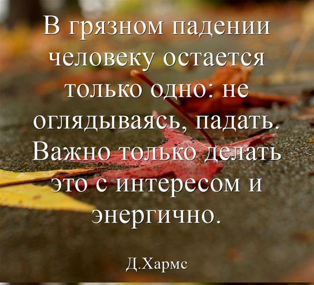 В грязном падении человеку остается только одно: не оглядываясь, падать. Важно только делать это с интересом и энергично.
