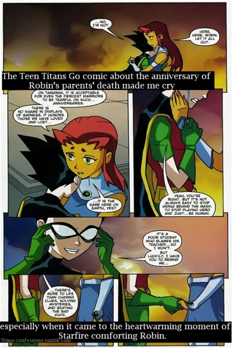 robin and starfire dating fanfiction Even in death: a starfire/robin fanfic general general board rule box affiliations advertizment mini board games.