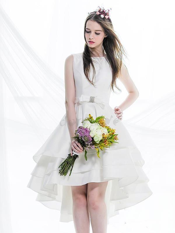 2015 非対称の蝶結び飾りの高級デザイン二次会ドレス 11499227 - 2016 二次会ドレス - Doresuwe.Com
