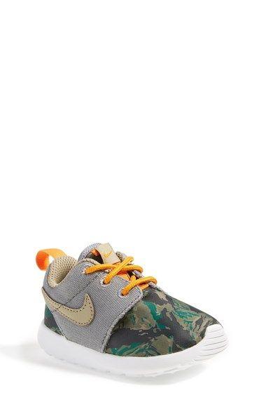 Nike 'Roshe Run' Print Sneaker (Walker, Toddler & Little Kid) available at #Nordstrom