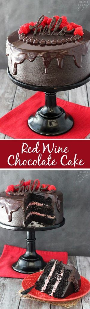 Red Wine Chocolate Cake Serves 8
