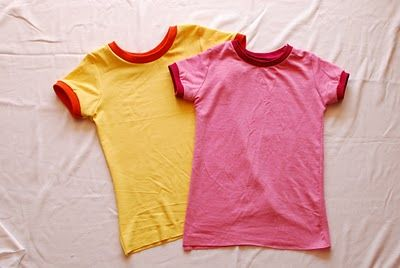 Easy tees to make - I am thinking this pattern would be perfect for making Moriah a Tshirt dress