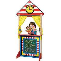 Floor Standing Puppet Theatre with Clock