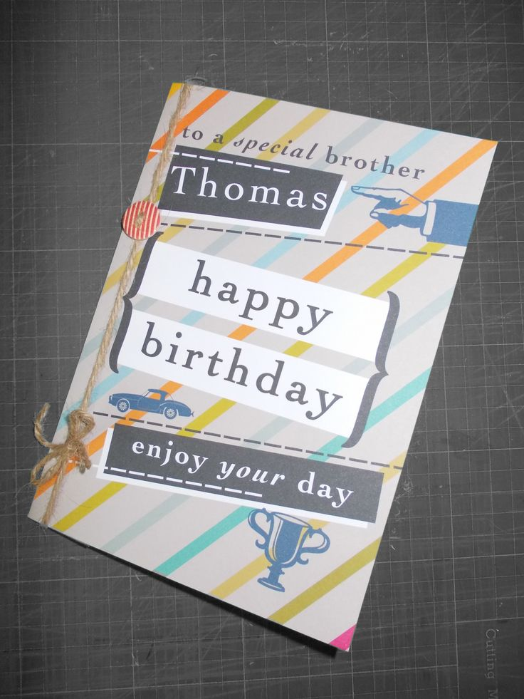 Personalised Male Birthday Greeting Card | Greeting Cards | Pinterest: pinterest.com/pin/431993789229806416