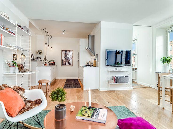 Este apartamento é delicado, criativo, inspirador e um tanto quanto feminino. O estilo escandinavo presente no imóvel dá o tom delicado do projeto de decor
