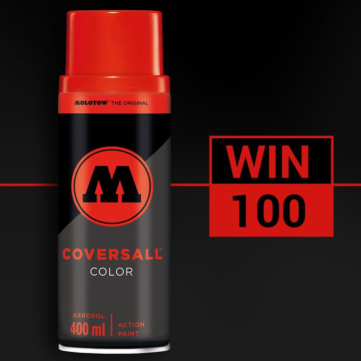 Bombing Science contest: WIN 100 Molotow Coversall Color cans!