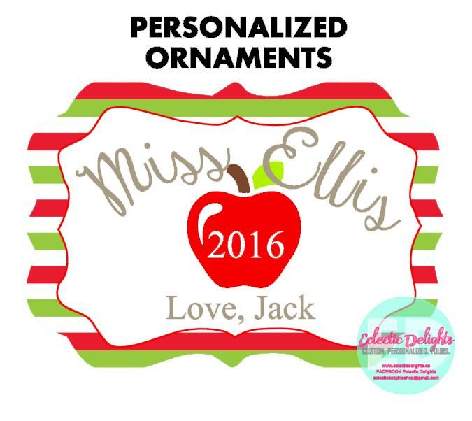 A personal favorite from my Etsy shop https://www.etsy.com/ca/listing/458626838/personalized-ornaments-custom-ornaments