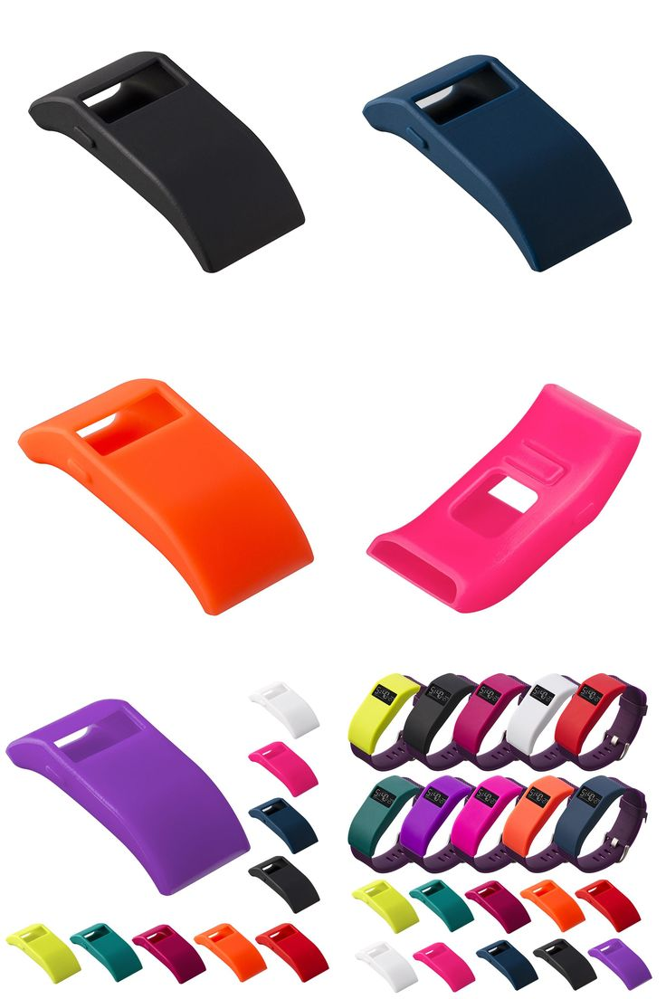 [Visit to Buy] Multi Color Fashion band protector With dust plug function Slim Silicone TPU Case Band Cover For Fitbit Charge HR  #Advertisement