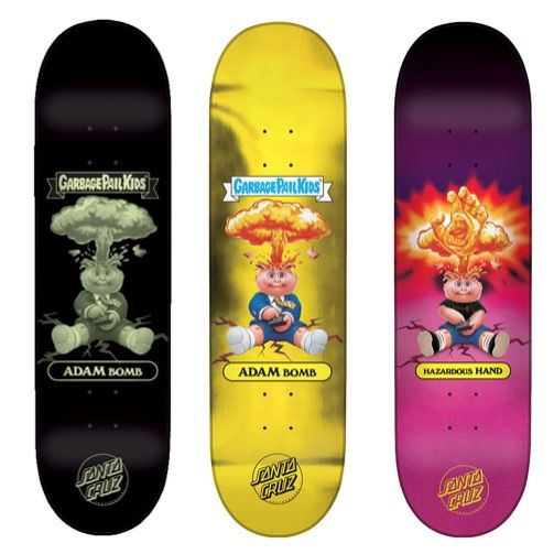 Santa Cruz x Topps/Garbage Pail Kids uses blind bags to sell skateboard decks