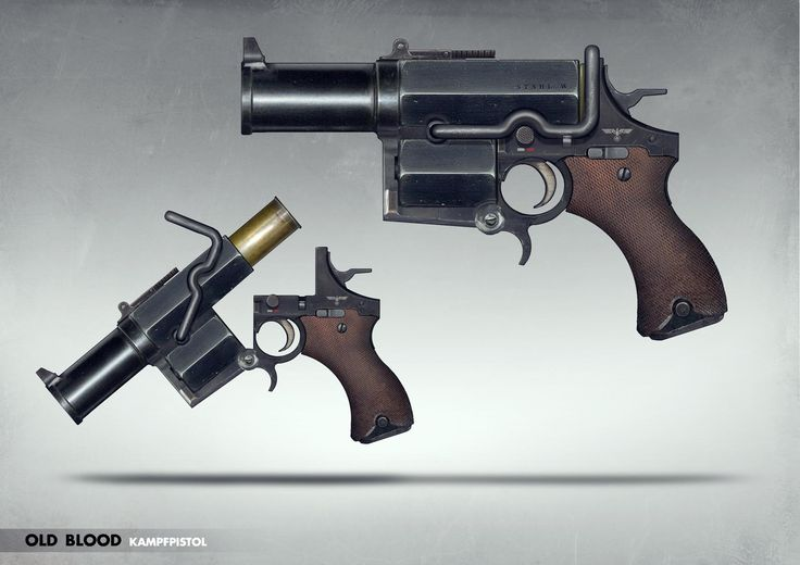 Kampfpistole - Game: Wolfenstein Old Blood Would have liked a revolver more. Oh well.